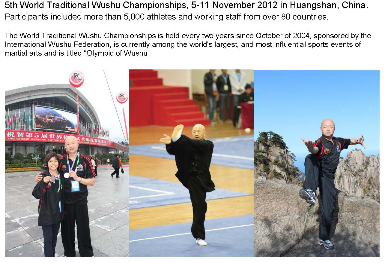 Master Wang and his student won Silver Medals at 5th World Traditional Wushu Championships